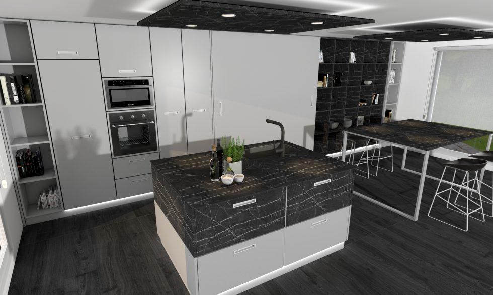 Colección t4 2 colores negros cocina