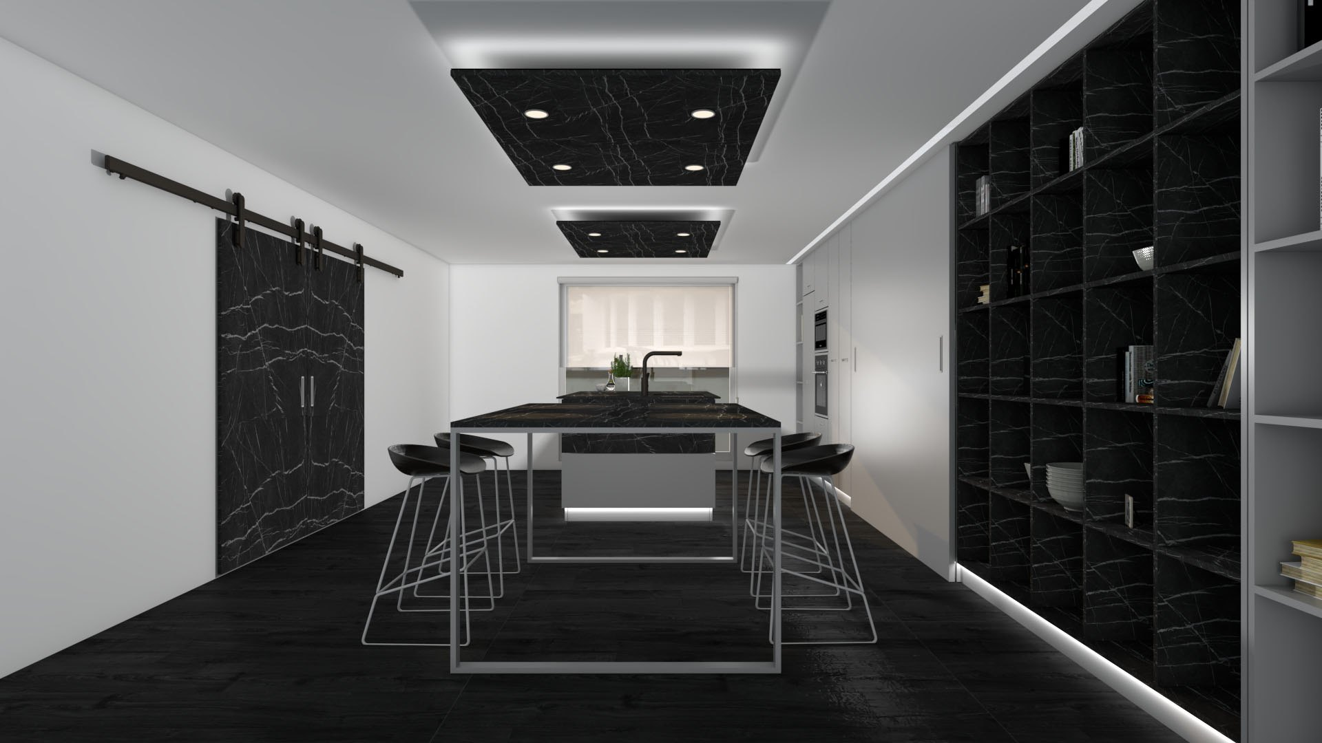 Colección T4 colores negro cocina