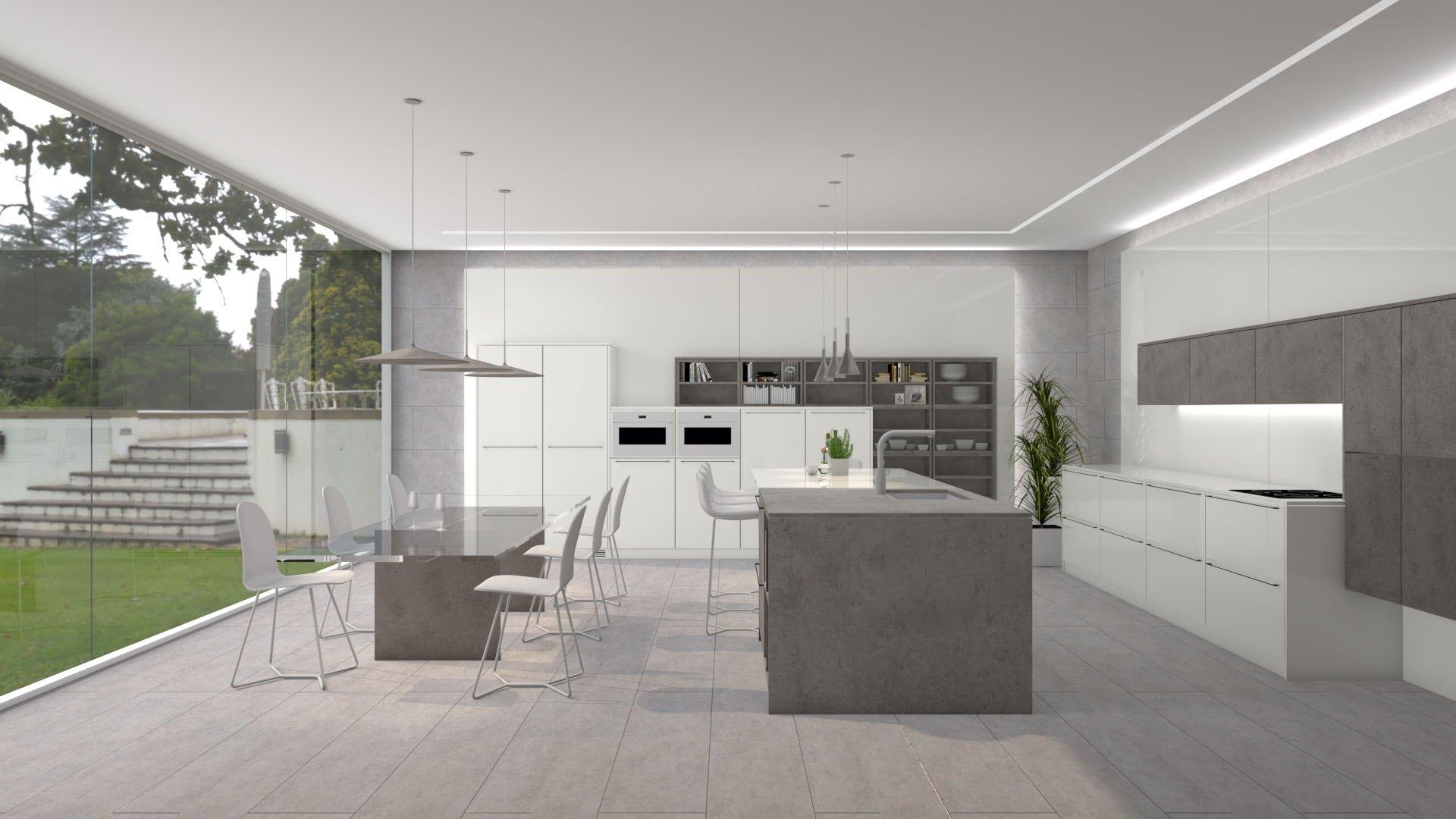 Colección T5 colores blanco y gris cocinas