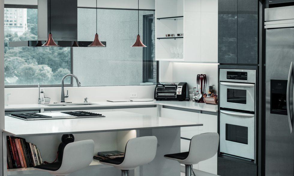 Electrodomésticos integrados cocina moderna