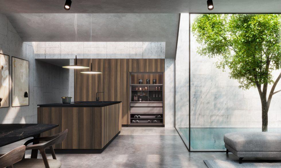 cocina madera toscano, alternativa artificial